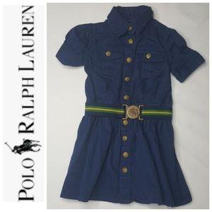 4/$25 2 2T Polo Ralph Lauren Denim Dress Buttons B